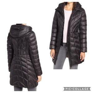Bernardo | Glossy Quilted Walker Coat